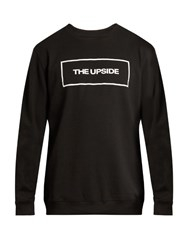 The Upside Logo Print Crew Neck Sweatshirt Black Multi