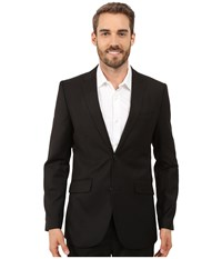 Perry Ellis Slim Fit Stripe Twill Suit Jacket Black Men's Jacket