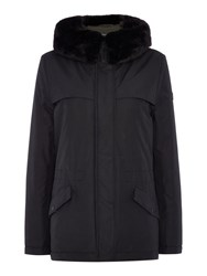 Gant Winter Parka Coat Black