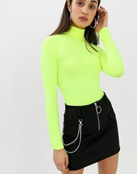 Bershka Black Mini Skirt With Chain Detail In Black