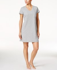 Nautica V Neck Knit Sleepshirt Heather Grey