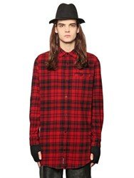 Cheap Monday Plaid Cotton Blend Flannel Shirt