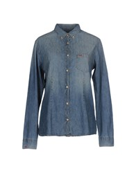 Sun 68 Denim Shirts Blue