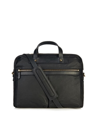 Mismo Coated Canvas And Leather Briefcase
