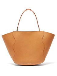 Mansur Gavriel Ocean Pink Lined Leather Tote Bag Brown Multi