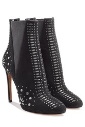 Alaia Studded Suede Stiletto Booties Gr. Fr 37.5