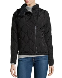 Marc Ny Performance Quilted Puffer Jacket With Zip Off Sleeves Black