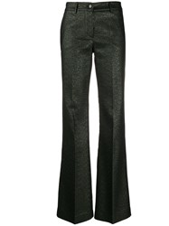 P.A.R.O.S.H. Flared Mid Rise Trousers Green