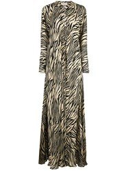 Nicholas Animal Print Maxi Dress Brown