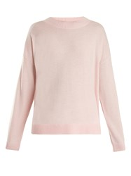 Frame Round Neck Wool And Cashmere Blend Sweater Light Pink