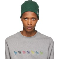 Paul Smith Ps By Green Wool Zebra Beanie