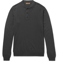 Etro Merino Wool Polo Shirt Gray