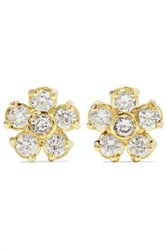 Jennifer Meyer Flower 18 Karat Gold Diamond Earrings One Size