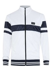 Topman Nicce White And Blue Track Top