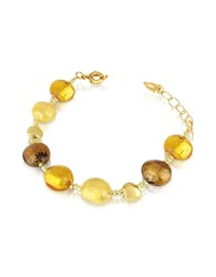 Antica Murrina Veneziana Frida Murano Glass Bead Bracelet Amber