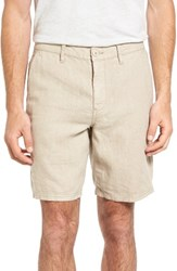 John Varvatos Men's Star Usa Linen Shorts Khaki