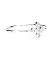 Stone Passion 18Kt White Gold Ring With White Diamonds Silver