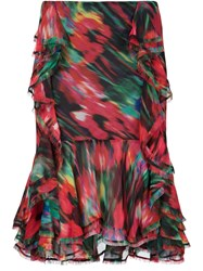 Jason Wu Ruffled Asymmetric Skirt Multicolour