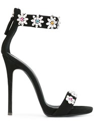 Giuseppe Zanotti Design Crystal Embellished Stiletto Sandals Black