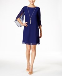 Styleandco. Style And Co. Chiffon Sheath Dress Only At Macy's Midnight Blue