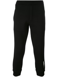 Neil Barrett Lightning Bolt Track Pants Men Cotton Polyurethane Spandex Elastane Polyacrylic Xs Black