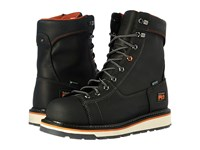 Timberland Gridworks Alloy Safety Toe Waterproof Boot Black Full Grain Leather Men's Work Lace Up Boots