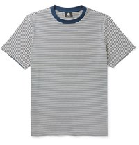 Paul Smith Ps By Slim Fit Striped Cotton Jersey T Shirt Navy