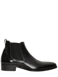Max Verre Brushed Calfskin Ankle Boots Black