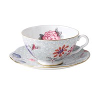Wedgwood Cuckoo Teacup And Saucer Green