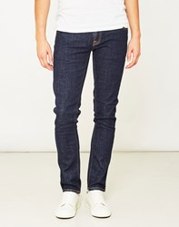 Nudie Jeans Co Tight Long John Twill Rinsed Blue Navy