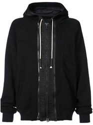 Mostly Heard Rarely Seen Zip Front Hoodie Cotton Black