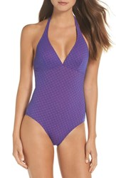 Vilebrequin Micro Turtles One Piece Swimsuit Bleu De Mer