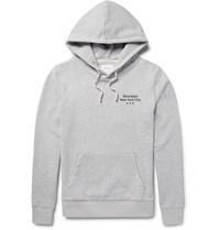 Saturdays Surf Nyc Aturday Ditch Three Dot Printed Loopback Cotton Jerey Hoodie Light Gray
