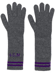 N 21 No21 Long Logo Gloves Grey