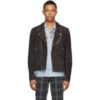 Paul Smith Ps By Grey Suede Jacket