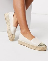 Stradivarius Espadrille In Cream