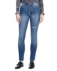 The Kooples Distressed Franky Skinny Jeans In Blue