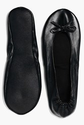 Boohoo Felicity Emergency Fold Up Ballet Shoes Black