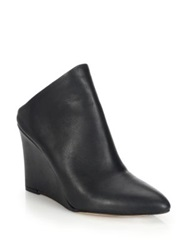 Vince Vail Leather Wedge Booties Tan Black