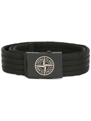 Stone Island Ribbed Belt Black