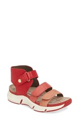 Bionica Women's Olanta Strappy Sandal Red Leather