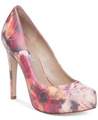 Bcbgeneration Parade Platform Pumps Women's Shoes Pink Floral