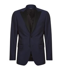 Tiger Of Sweden Nobel Contrast Lapel Blazer Male Navy