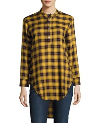Publish Hers Nikole Plaid High Low Tunic Green