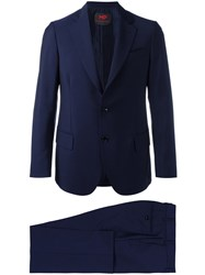 Massimo Piombo Mp Single Breasted Dinner Suit Blue