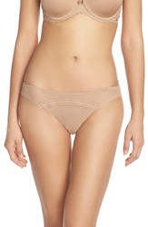 Women's Chantelle Intimates 'Parisian' Tanga Thong Suede