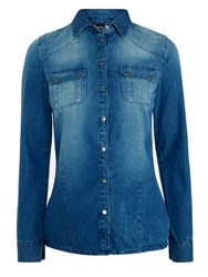 Barbour International Broton Denim Shirt Surf Blue