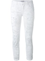 Faith Connexion Cropped Jeans Women Cotton Spandex Elastane 26 White