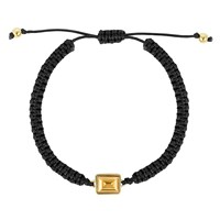 Adore Gold And Black Emerald Cord Bracelet N A N A