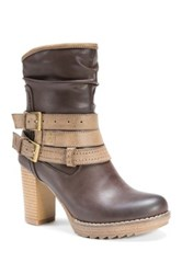 Muk Luks Skylynn Faux Leather Boot Brown